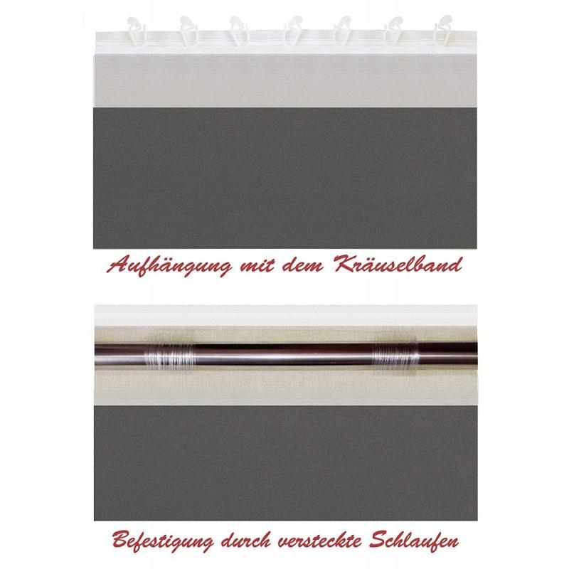 Weiße Store Gardine nach Maß, Design: Lübeck
