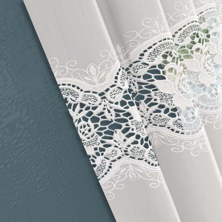 stoffmuster gardine nach ma aqua 25 cm x 25 cm. Black Bedroom Furniture Sets. Home Design Ideas
