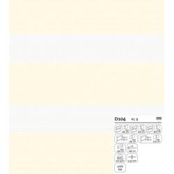 Batist-Gardine nach Maß, Automatik-Faltenband (1:2,5), 3er Falte